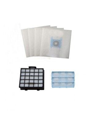 Bosch Org. Typ C Süpürge Toz Torbası 4 Adet Filtre Seti