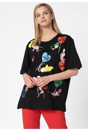 Love Moschino Kadın Siyah T-shirt