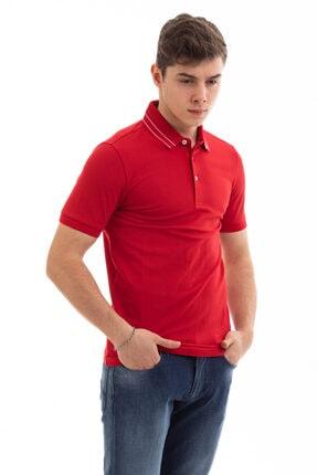 Emporio Armani Erkek Kırmızı Polo Yaka T-shirt