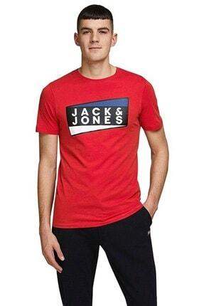 Jack & Jones Erkek Kırmızı Shaun Tişört 12172246