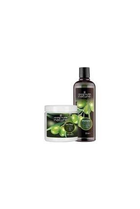 Huncalife Nature Zeytinyağlı Şampuan 500 ml + Saç Bakım Maskesi 500 ml