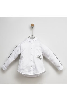 Panço Kız Çocuk Beyaz Gömlek