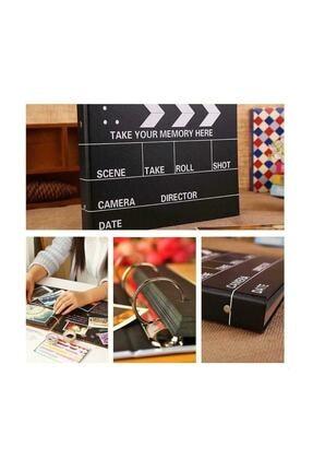 Raicon Siyah Yapraklı Sinema Klaket Tasarımlı Fotoğraf Albümü