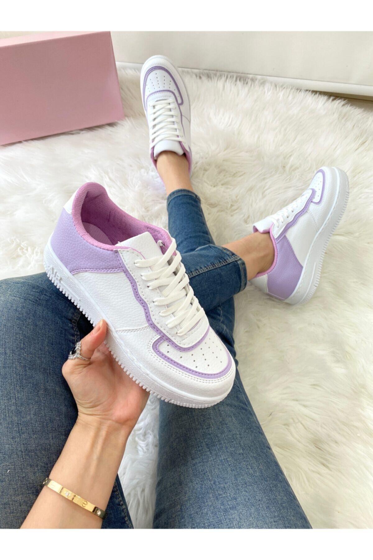 ELSESHOES Kadın Lıla Beyaz Sneaker 2