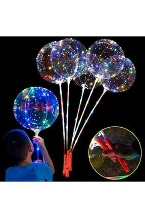 Süsle Baby Party 3 Mt Led Işıklı, Çubuklu, 45 Cm Şeffaf Balon Seti - 1 Adet