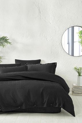 Yataş Bedding Destra  Siyah Tek Kişilik Saten Nevresim Takımı