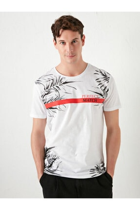 LC Waikiki Erkek T-Shirt Beyaz