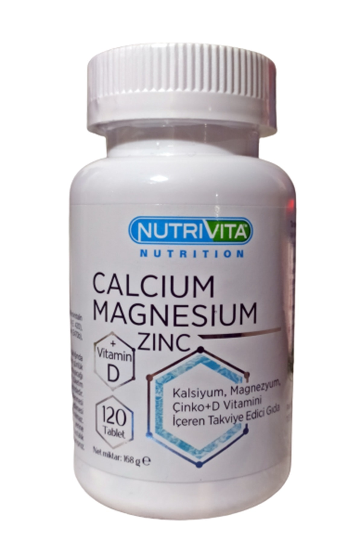 Nutrivita Nutrition Calcium (kalsiyum) Magnesium (magnezyum) Zinc Vitamin D 120 Tablet Stk 01/2024 1