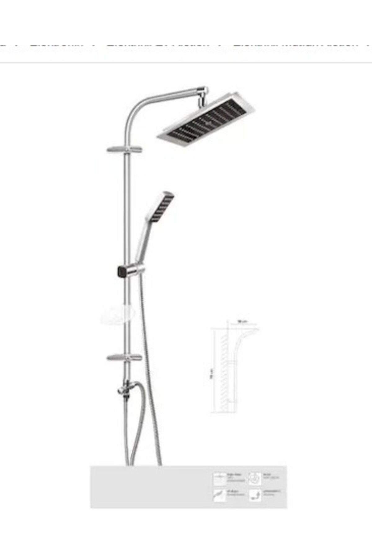 alkalinees Yeni Nesil Robot Yağmurlama Tepe Duş Başlığı Seti 2