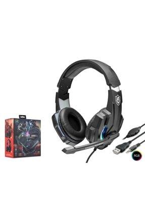 KR M9000 Led Işıklı Surround Usb Miofonlu Oyuncu Kulaklığı