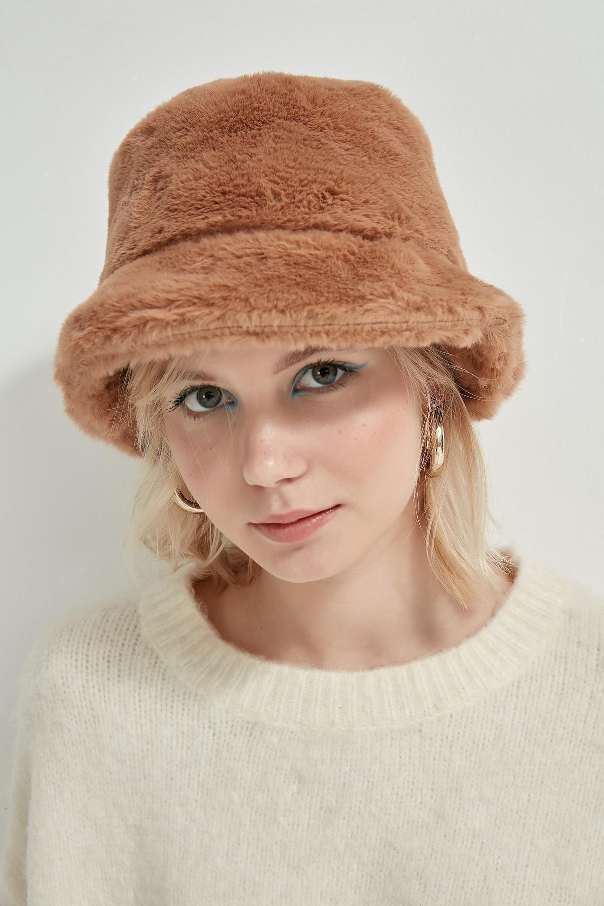 Y-London 12839 Bej Rengi Bucket Şapka 1