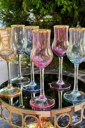 Paşham AVM Renkli 6'lı Grappa Kahve Yanı Su Bardağı