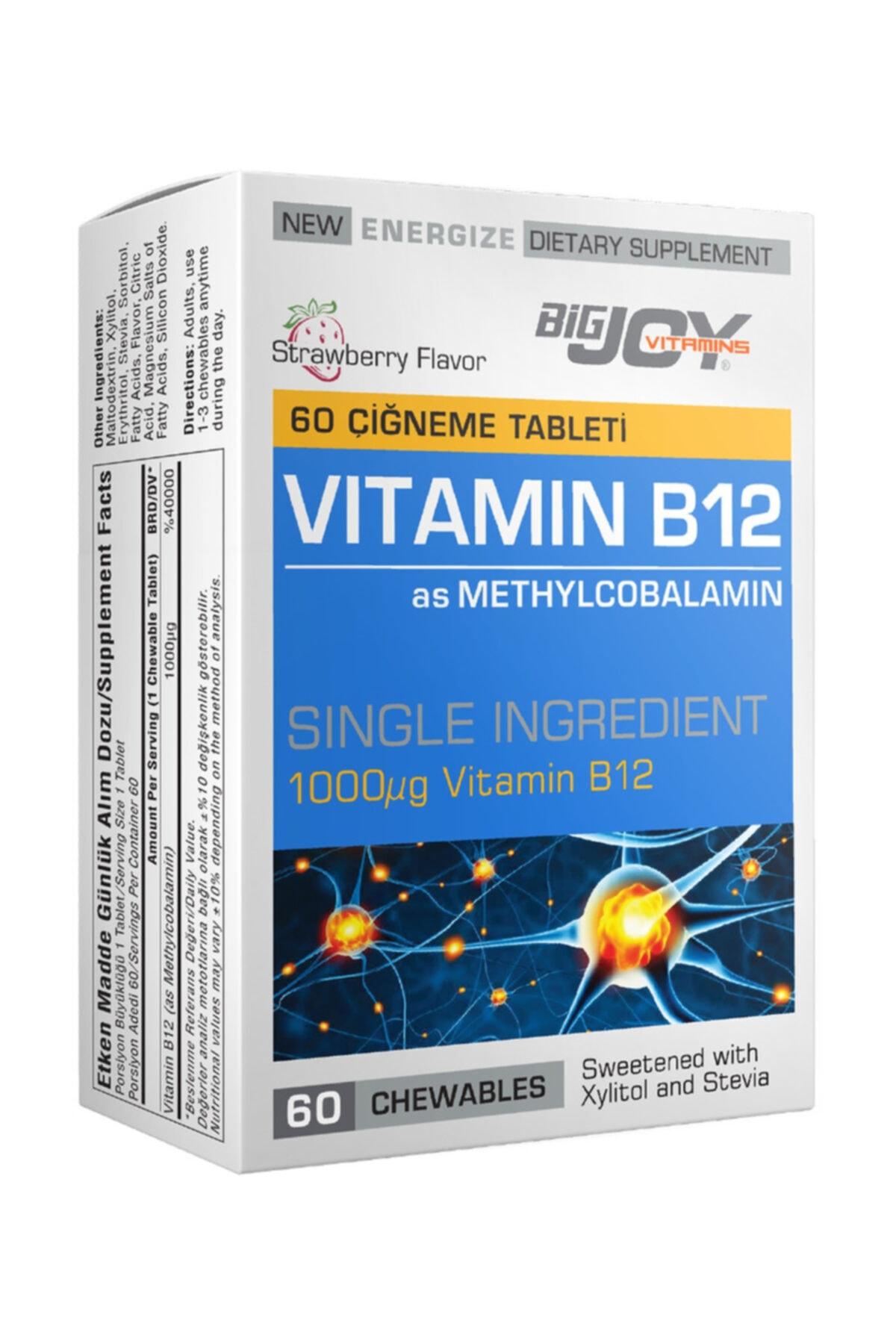 Big Joy Bigjoy Vitamins Vitamin B12 60 Çigneme Tableti 1