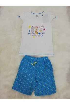 Wonder Kıds Wonder Kids 130602 Kız Çocuk Şortlu Yazlık Pijama Takımı