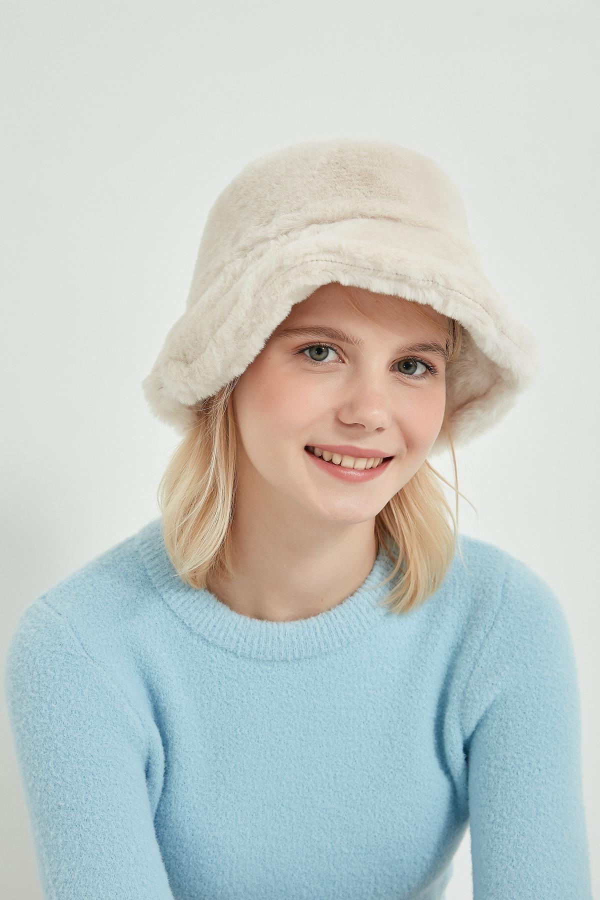 Y-London 12839-1 Bej Renk Bucket Şapka 1