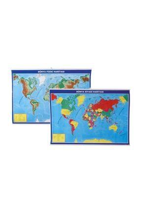 Gülpaş Harita Dünya Fiziki Ve Siyasi Çıtalı 70X100 Cm G-998