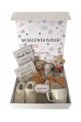 BabySurpriseBox Hoşgeldin Bebek! Küçük Prens Emzik Askılı Hediye Kutusu