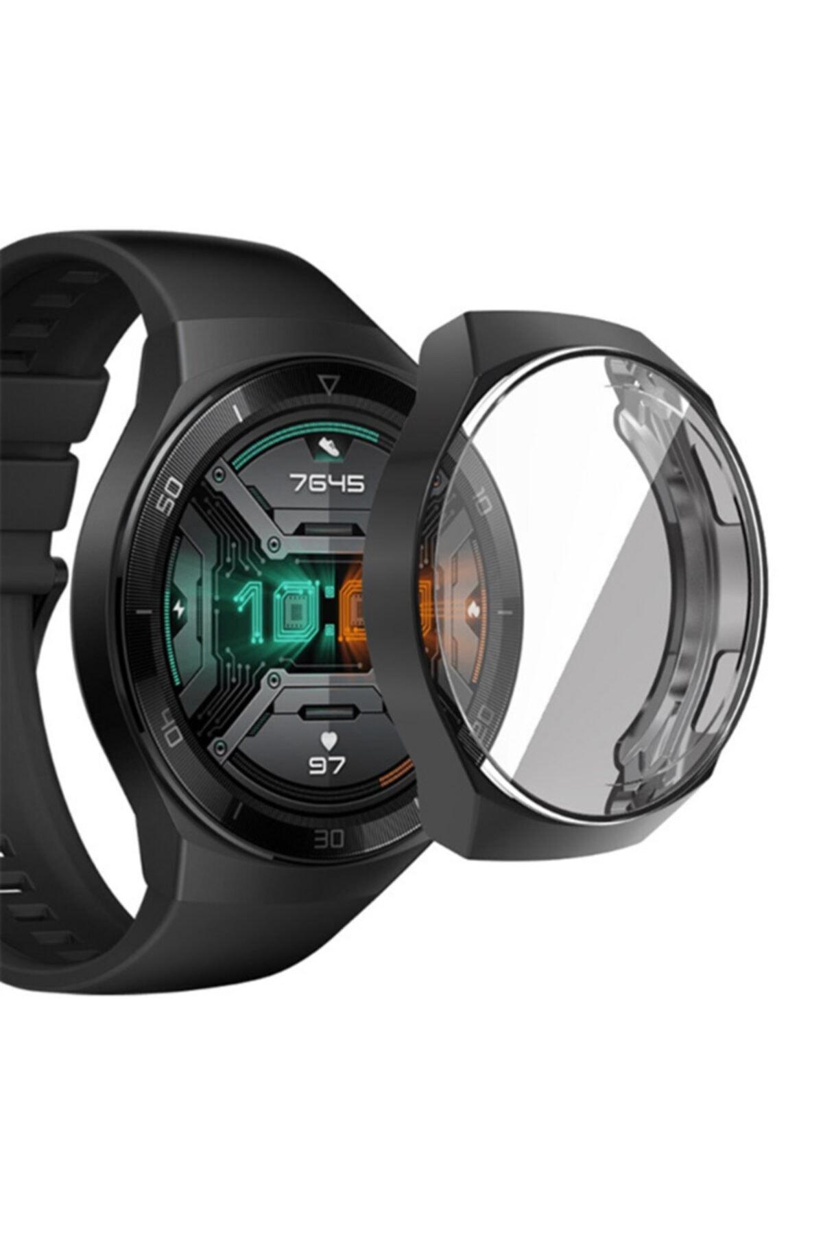 MORTY Huawei Watch Gt 2e Uyumlu 360 Koruma Silikon Kılıf 46mm 1