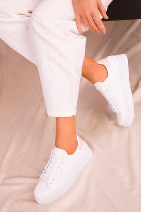 SOHO Beyaz-Pudra Kadın Sneaker 14739