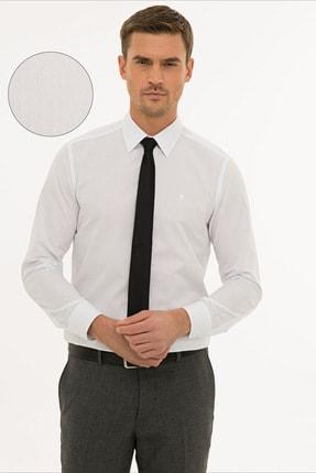 Pierre Cardin Erkek Beyaz Slim Fit Basic Gömlek G021GL004.000.1214451