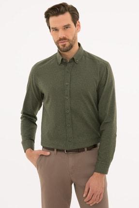 Pierre Cardin Erkek Haki Regular Fit Gömlek