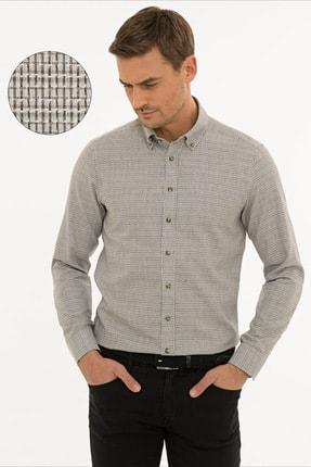 Pierre Cardin Erkek Açık Kahverengi Slim Fit Gömlek G021GL004.000.1214478