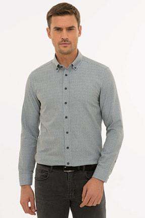 Pierre Cardin Erkek Lacivert Slim Fit Gömlek G021GL004.000.1214478
