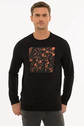Pierre Cardin Erkek Siyah Standart Fit Sweatshirt G021SZ082.000.1235931
