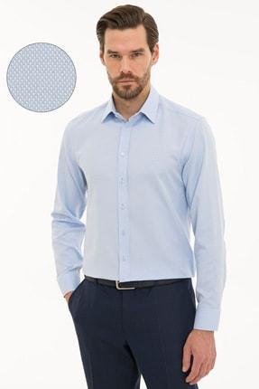 Pierre Cardin Erkek Açık Mavi Slim Fit Oxford Gömlek G021GL004.000.1214456