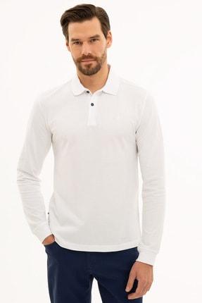 Pierre Cardin Erkek Beyaz Slim Fit Polo Yaka Sweatshirt G021GL082.000.1208969