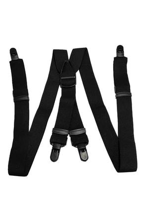 Kemer Dünyası Plastik 4 Klipsli Yıkanabilir Antialerjik Unisex Siyah Pantolon Askısı