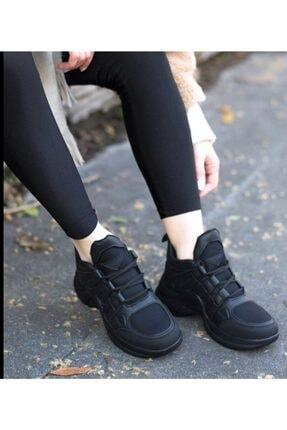 Asiss Ayakkabı Kadın Siyah Bağcıklı Spor Ayakkabı