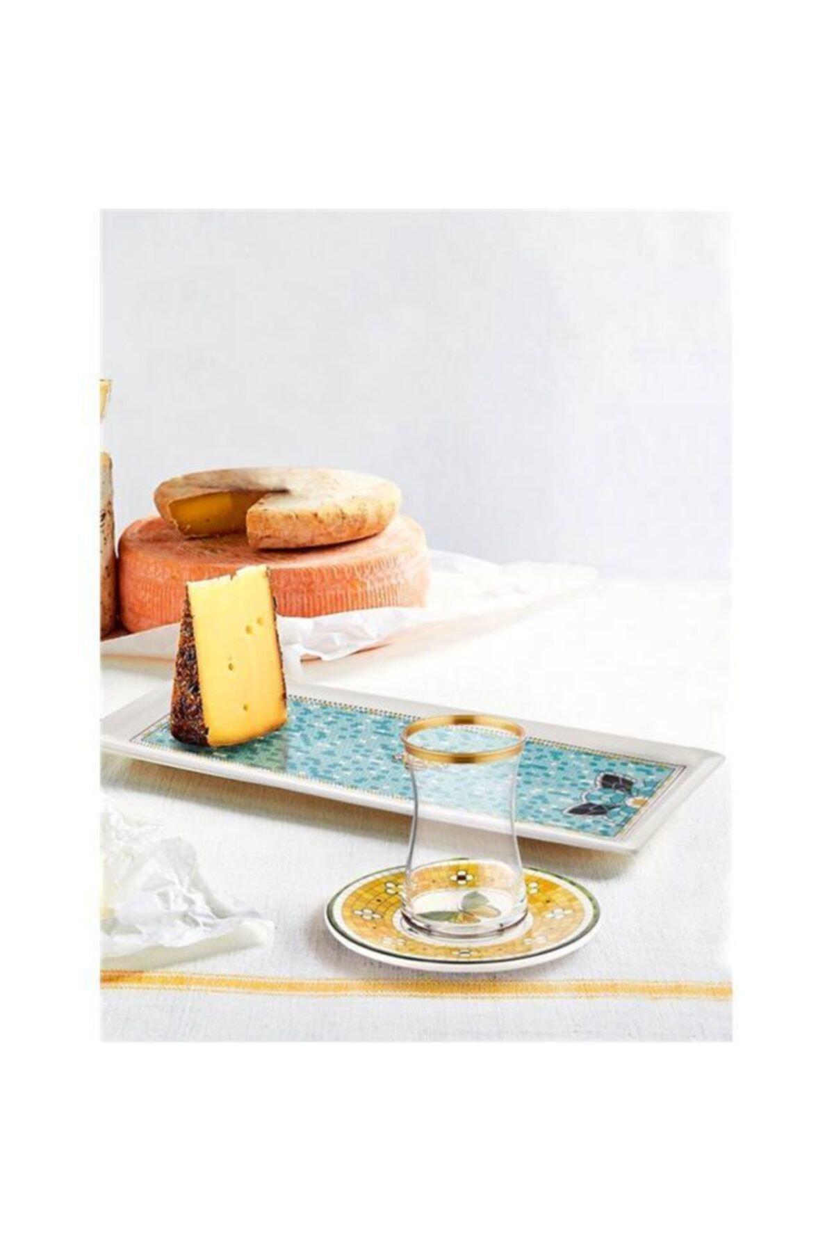 The Mia Patio Stoneware Sarı 12 Parça Çay Bardak Seti Pat0005 2