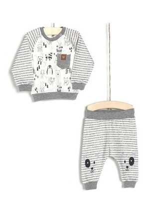 Aziz Bebe Erkek Bebek Badi Pantolon 2li Takım 0-24 Ay 2897