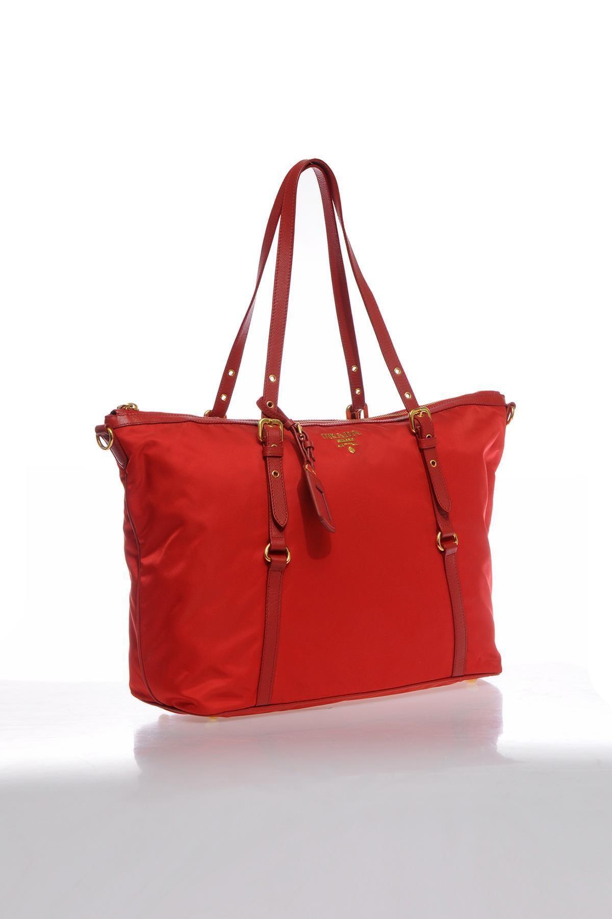 Prada Kadın Kırmızı Omuz Çantası 2