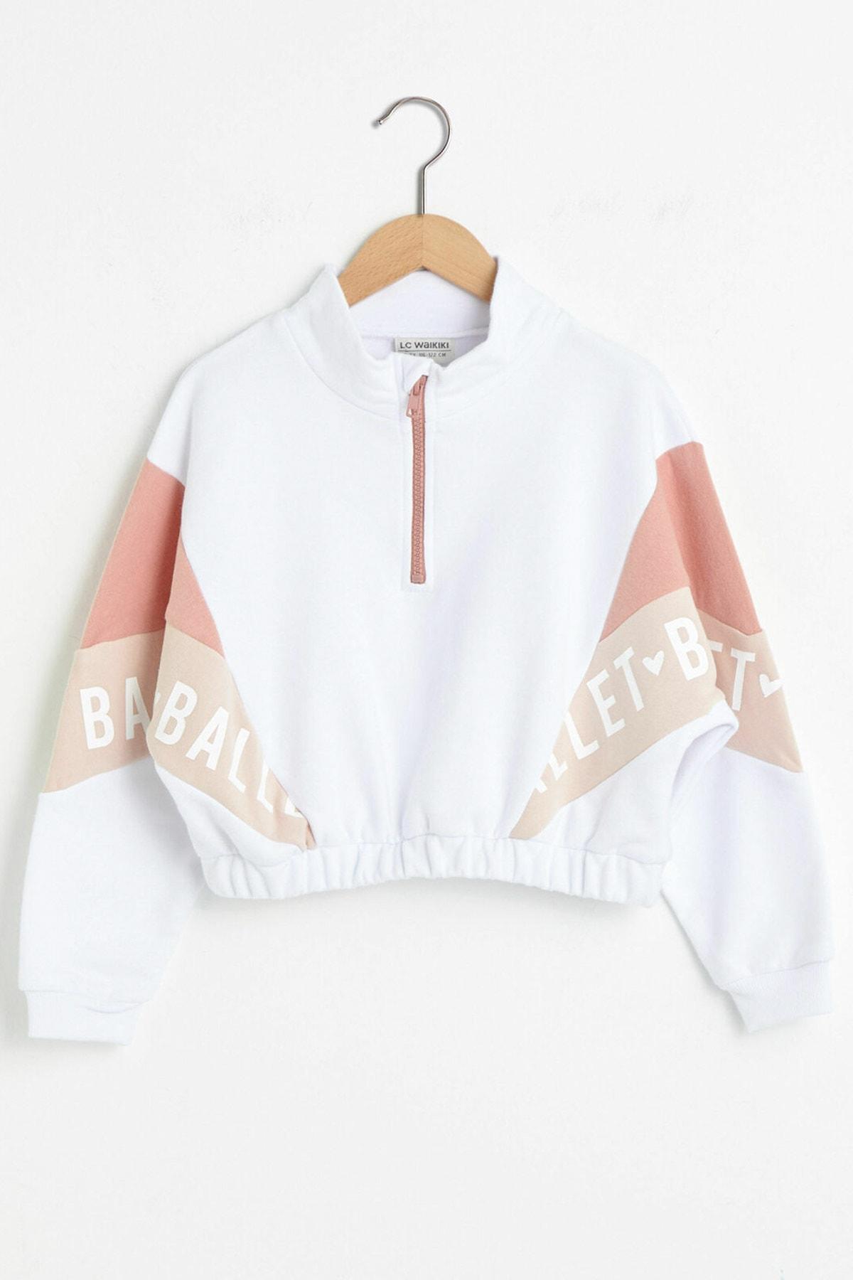 LC Waikiki Kız Çocuk Optik Beyaz Ffb Sweatshirt 1