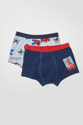 LC Waikiki Spiderman Erkek Çocuk Gri Baskılı Lrw Boxer