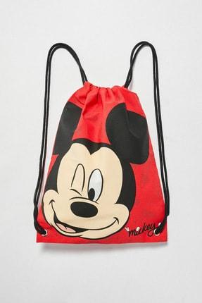 LC Waikiki Mickey Mouse Erkek Çocuk Canlı Kırmızı Gzx Sırt Çantası