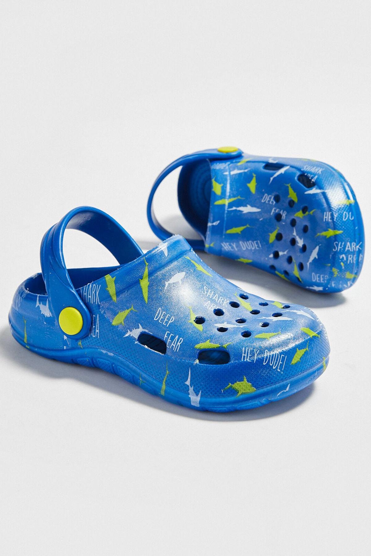 LC Waikiki Erkek Çocuk Saks Mavi Crw Sandalet 2