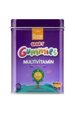 Ocean Smart Gummies Multivitamin Ve Mineral İçeren Takviye Edici Gıda 64 Jel Tablet