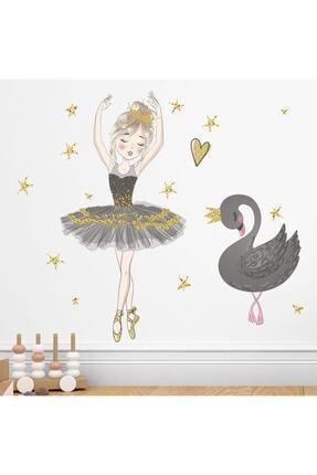 KT Decor Balerin Ve Kuğu Çocuk Odası Duvar Sticker