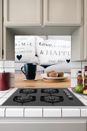 Tilki Dünyası Mutfak Ocağı Arkası Kahve ve Kek Sticker