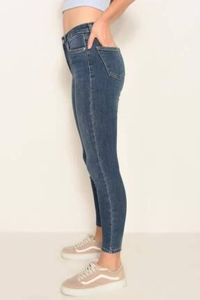 Addax Kadın Koyu Kot Rengi Cep Detaylı Jean Pantolon Pn6806 - Pnf ADX-0000022760