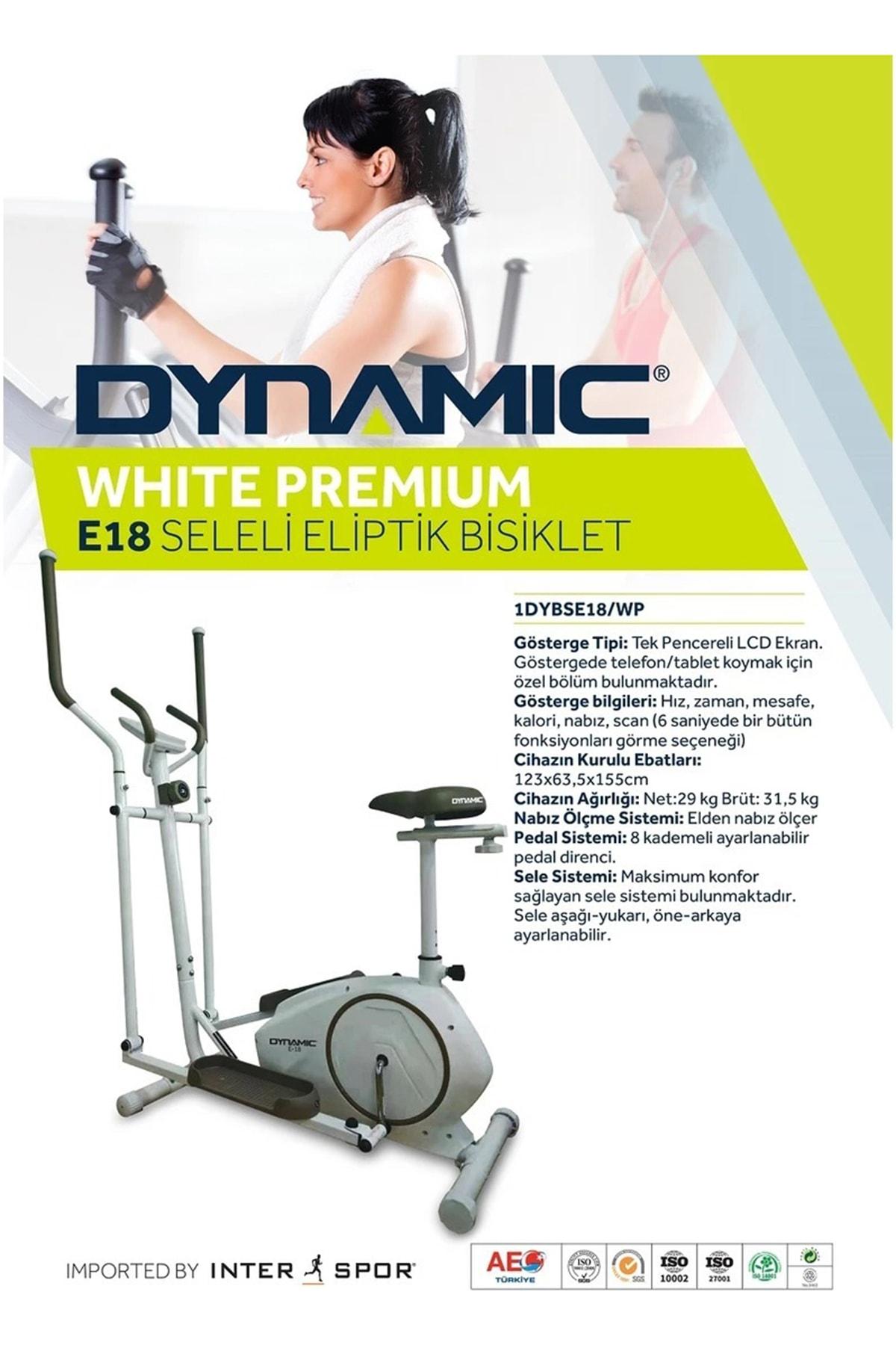 Dynamic E18 White Premium Manyetik Eliptik Bisiklet Seleli 2