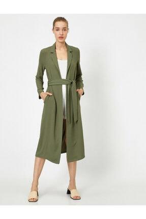 Koton Kadın Yeşil Kemerli Uzun Kimono