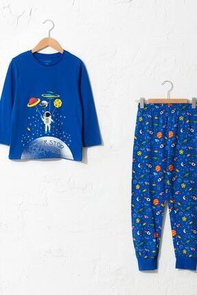 LC Waikiki Erkek Çocuk Koyu Mavi Hnb Pijama Takımı