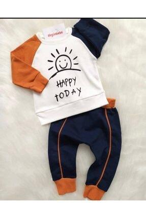 Beren Kids Happy Today Desenli Bebek Alt Üst Takım