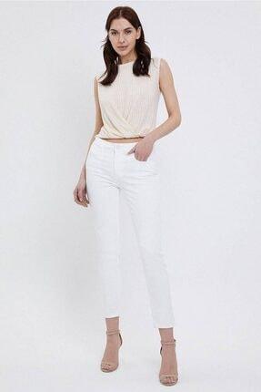 Loft Kadın Beyaz Pantolon Jean