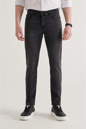 Avva Erkek Antrasit Slim Fit Jean Pantolon A11y3555