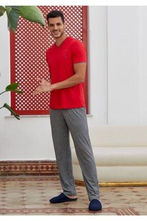 Eros Erkek Pijama Takımı - Kırmızı